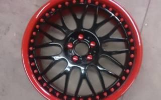 Как покрасить колесные диски не снимая резину