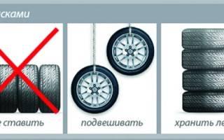 Почему нельзя хранить шины на дисках стоя