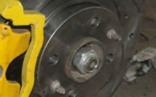Как меняются тормозной диск на ваз