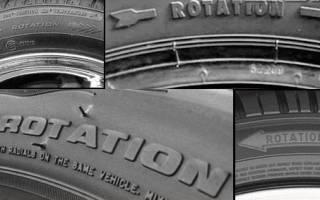 Как определить наружную сторону шины