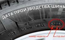 Как определить год выпуска шины goodyear
