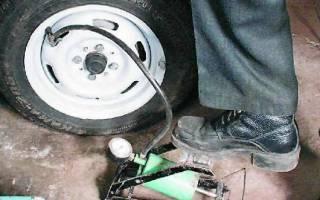 Как накачать шину машины