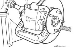 Как крепиться тормозной диск на рав 4