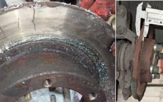 Как померить диаметр тормозного диска не снимая колеса