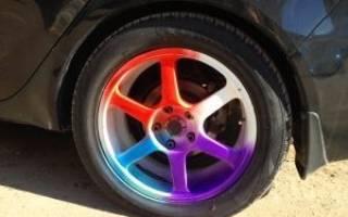 Как покрасить колесные диски жидкой резиной