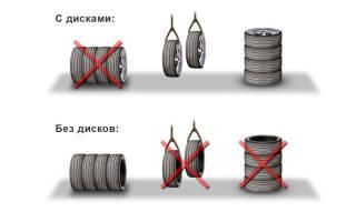 Как зимой хранить шины без дисков в гараже