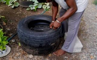 Как вкопать шины в землю