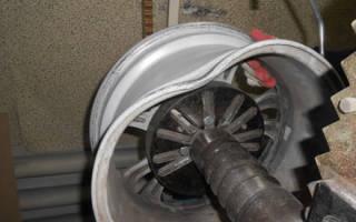 Как выправить колесный диск