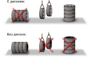 Как хранить шины на дисках лежа или стоя