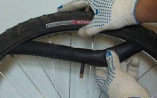 Как поменять шину на колесе велосипеда