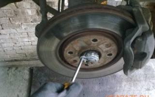 Как поменять тормозной диск пежо 406