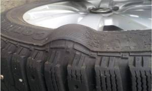 Как найти грыжу на снятой шине