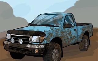 Как нарисовать шину для машины