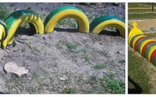 Как использовать шины на детской площадке