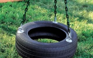 Как сделать детскую площадку из шин