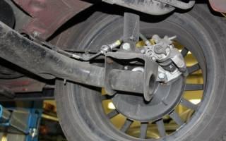 Как поменять тормозные тормозной диск на гранте