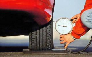Почему разное давление в шинах