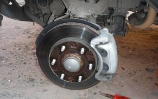 Как поменять тормозные диски на митсубиси паджеро спорт