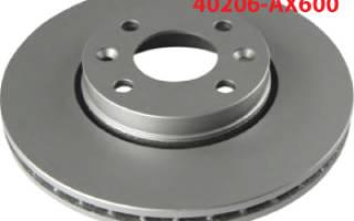 Как заменить тормозные диски ниссан ноте